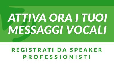 Attiva e personalizza i tuoi messaggi vocali