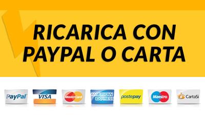 Ricarica con Carta di Credito